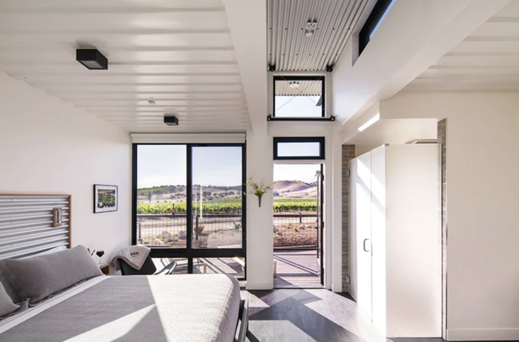 Shipping Container Hotel Bedroom Interior
