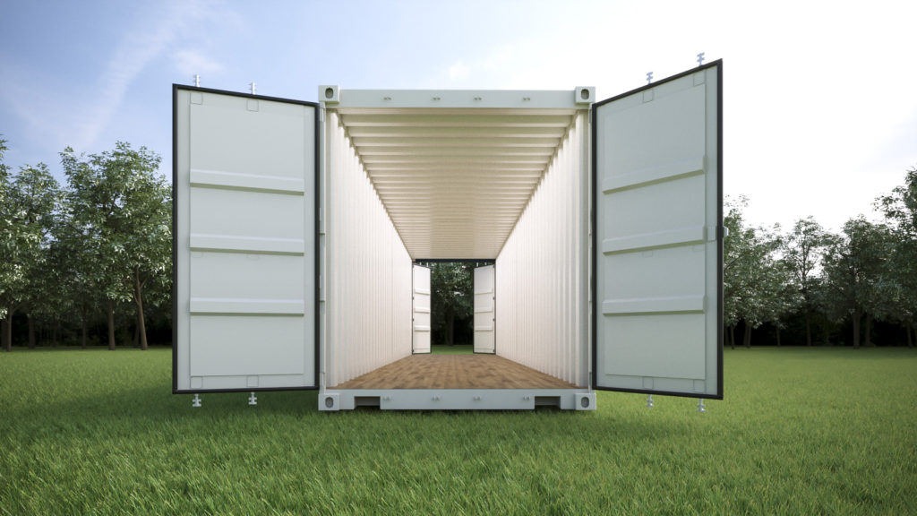 double door shipping containers for sale